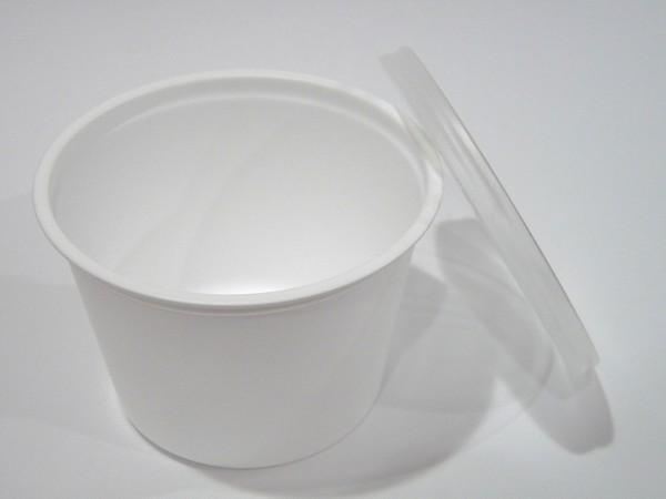 耐熱温度105℃!電子レンジOK!使い捨てフタ付スープカップ270cc 5枚入り。日本製 @100均セリア
