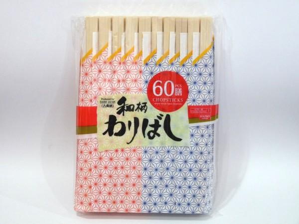 百均浪漫◆和柄(古風柄)わりばし60膳