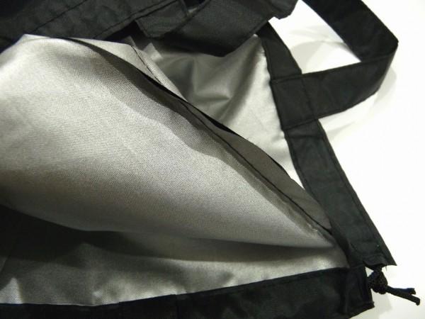 百均浪漫◆ポリエステル製防水巾着バッグ 38×34cm