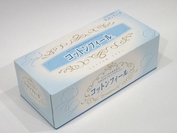 やさしいやわらかさの日本製ボックスティシュペーパー、コットンフィール 320枚(160組) @100均 セリア