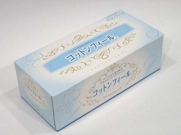 百均浪漫◆日清紡コットンフィール(ボックスティッシュペーパー)