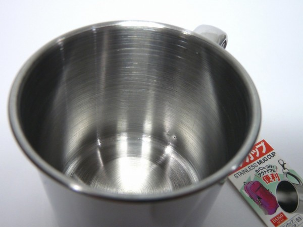 百均浪漫◆ダイソー ステンレスマグカップ(小)約350ml