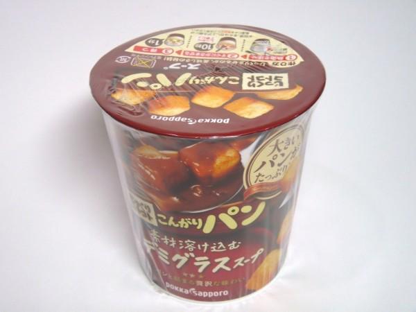 百均浪漫◆POKKAじっくりコトコトこんがりパン素材溶け込むデミグラススープ