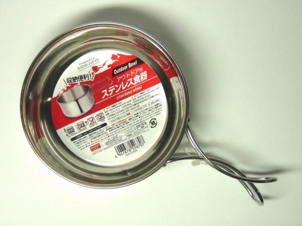 百均浪漫◆アウトドア用フォールディング(折りたたみ)ハンドル・ステンレス食器・小