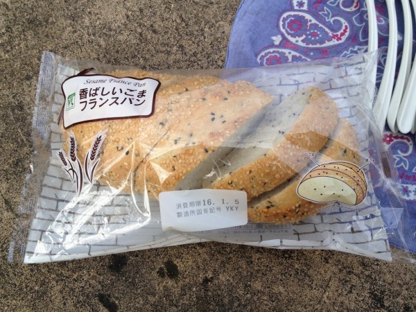 百均浪漫◆香ばしいゴマフランスパン