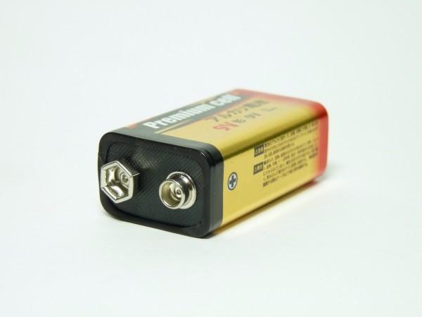 百均浪漫◆Premium cell 9V形アルカリ乾電池