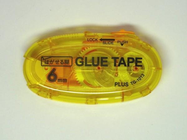百均浪漫◆はがせるテープのり。キャップを無くさなくて便利
