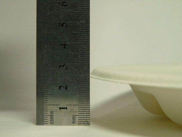 百均浪漫◆エコペーパープレート環境に優しい仕切り付深型26cm 3P