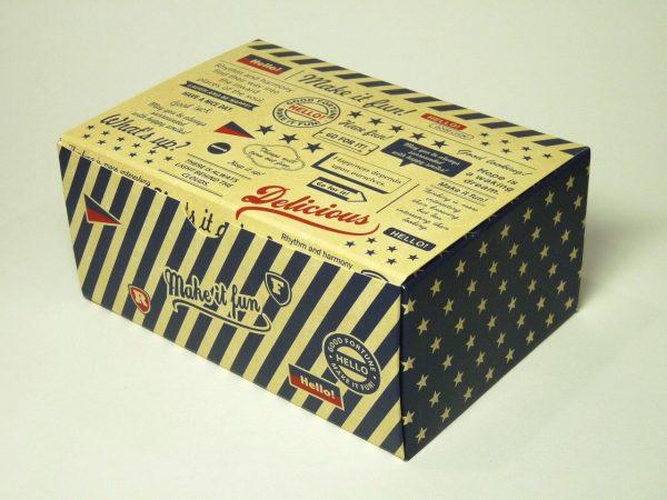 百均浪漫◆折りたためるペーパーランチボックス