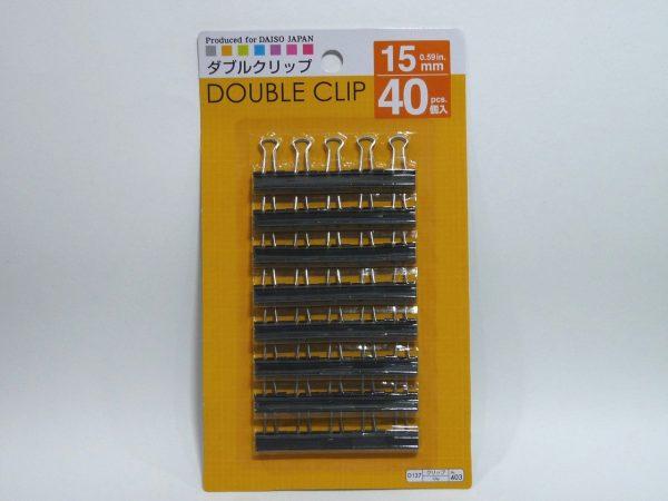 百均浪漫◆ダイソーお買い得なダブルクリップ15mm 40個入