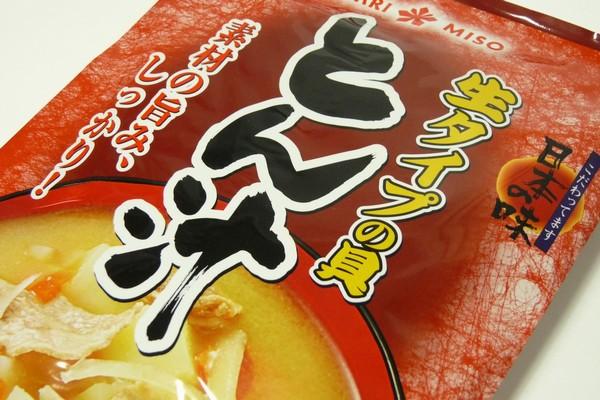 ひかり味噌 生タイプの具 とん汁、ちょっとピリっとする味付けがおいしいね! @100均 セリア