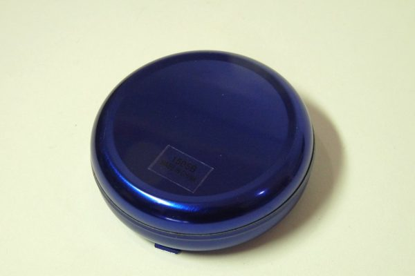 百均浪漫◆携帯吸殻入れ(丸型、ブルー)