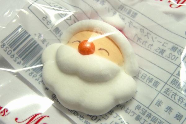 クリスマスケーキ飾りのサンタ菓子(顔だけ版)をダイソーで発見! @100均 ダイソー