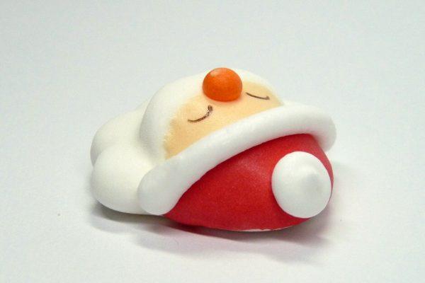 百均浪漫◆クリスマスケーキ 飾りのサンタ(顔だけ版)をダイソーで発見!