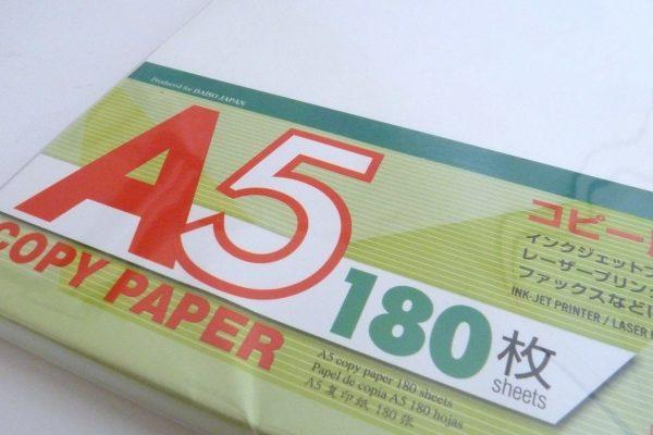 百均浪漫◆ダイソーA5コピー用紙