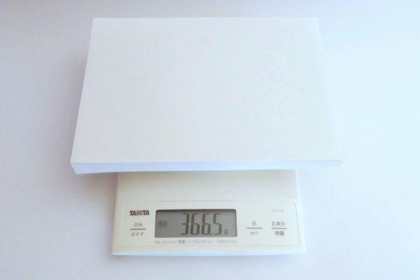 百均浪漫◆ダイソーA5コピー用紙・重さ