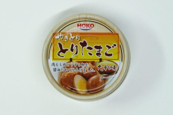 百均浪漫◆HOKO やきとり とりたまご たれ味・缶正面写真