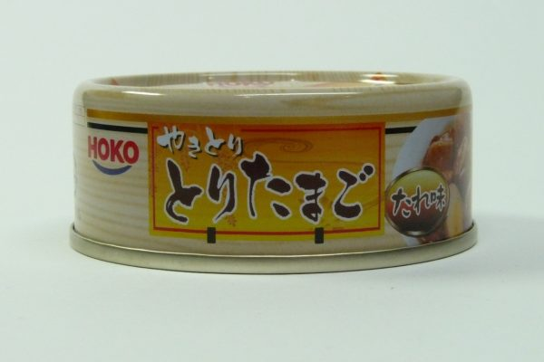百均浪漫◆HOKO やきとり とりたまご たれ味・缶側面 商品名面 写真
