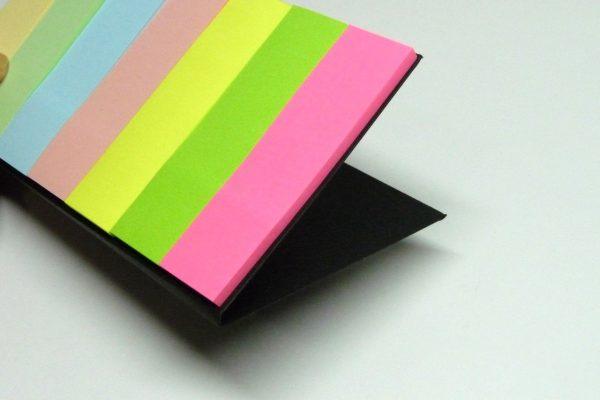 百均浪漫◆セリア 薦田紙工業 手帳にはさめるふせん、バインダーに挿してみる。