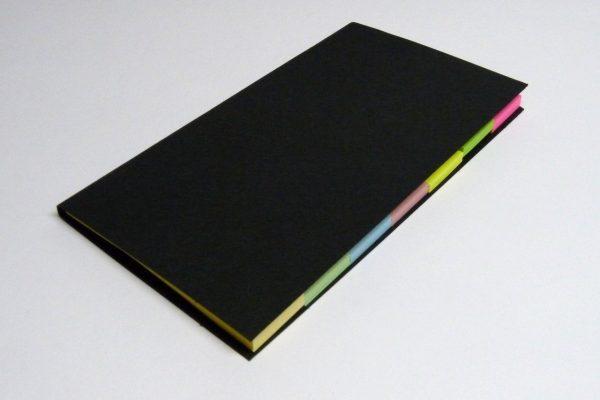 百均浪漫◆セリア 薦田紙工業 手帳にはさめるふせん、反対に折ると付箋ノートになる