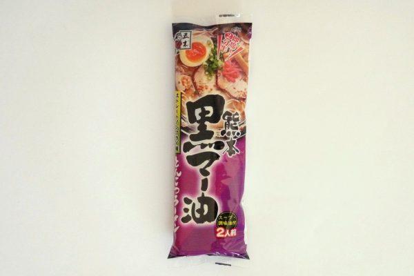百均浪漫◆五木食品 熊本黒マー油とんこつラーメン2人前・パッケージデザイン。
