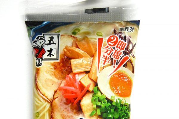 百均浪漫◆五木食品 久留米ネギとんこつラーメン。パッケージ写真。