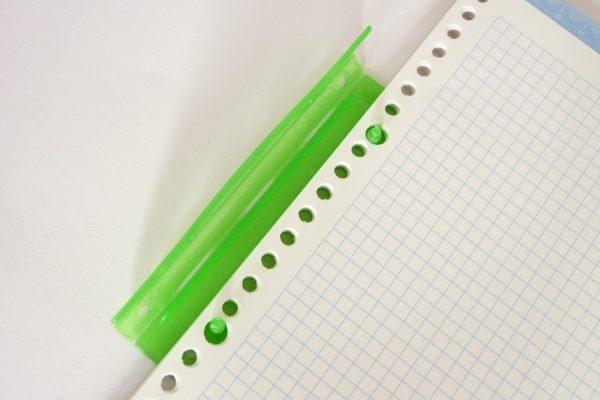 百均浪漫◆ダイソー ファイルクリップ 5個入り。ルーズリーフを綴じてみる。