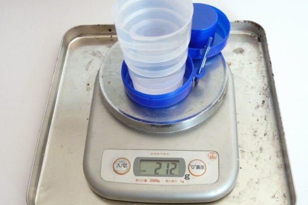 百均浪漫◆ダイソー折りたたみコップ。容量測定。