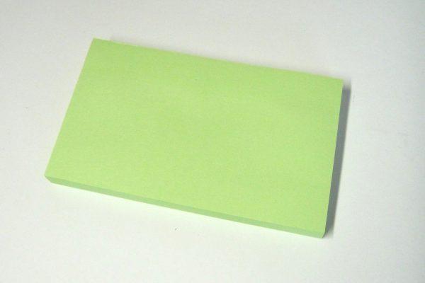 百均浪漫◆ダイソー 付箋紙 127×76mm緑