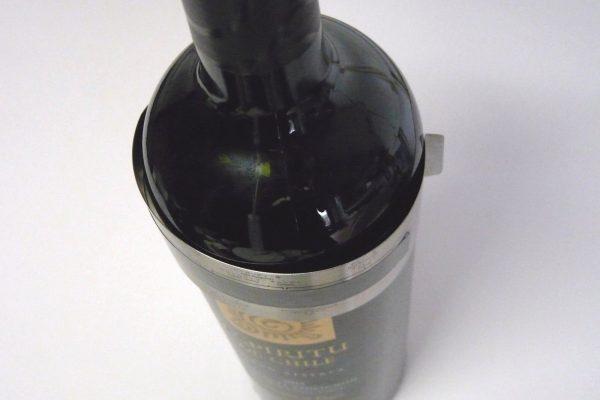 百均浪漫◆ダイソー ワイン温度計。試しにワインボトルに巻いてみる。