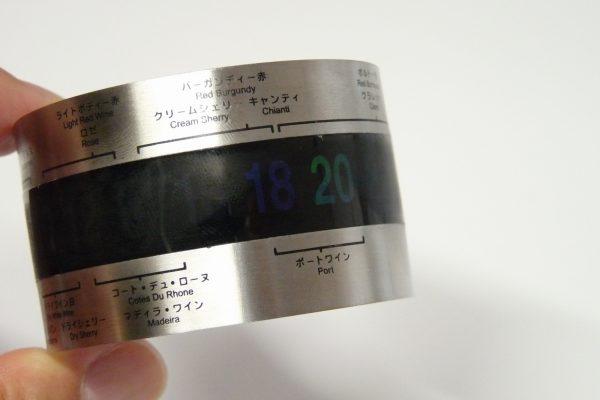 百均浪漫◆ダイソー ワイン温度計。温度表示。