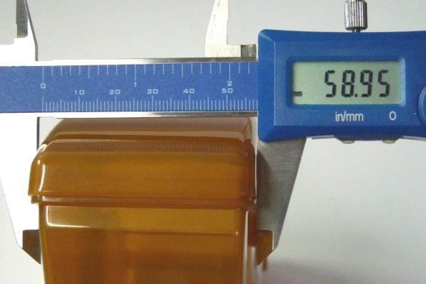 百均浪漫◆セリア・2-4杯用コーヒーフィルターストック。幅だけ測定。