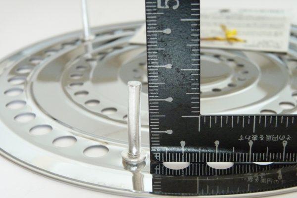 百均浪漫◆ダイソー 蒸し器 大 19cm。サイズ測定。