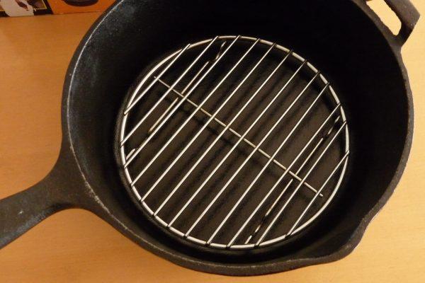 百均浪漫◆ダイソー 蒸し器 大 19cm。25cmコンボクッカーに入れてみる。