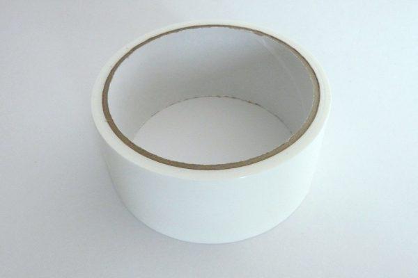 百均浪漫◆モリトク 仮止め用 養生テープ 白。