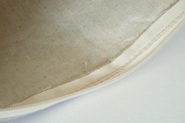 百均浪漫◆ワッツ 帆布 ペンケースフラット。縫製の確認。