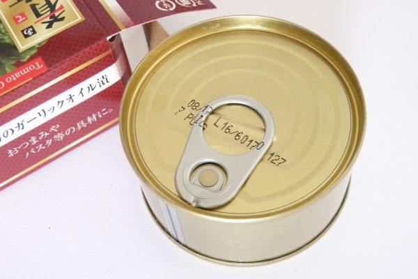 百均浪漫◆イトマトコーポレーション・カのガーリックオイル漬。缶の詳細写真。