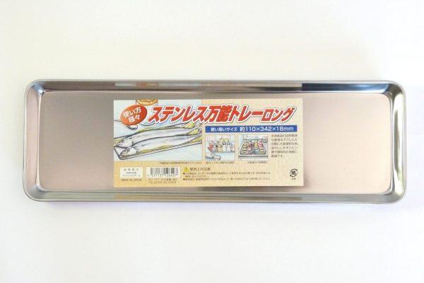 百均浪漫◆ステンレス製トレイ ロング約34cm。