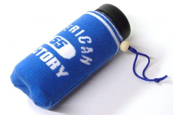 百均浪漫◆ダイソー ドリンクボトル400ml無地。伸縮ボトルカバーがぴったり、