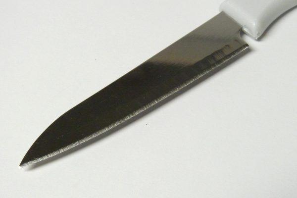 百均浪漫◆エコー金属 さや付きフルーツナイフ。両刃。