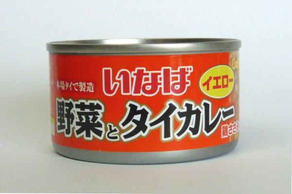 百均浪漫◆いなば 野菜とタイカレー 鶏ささみ入り。缶正面写真。