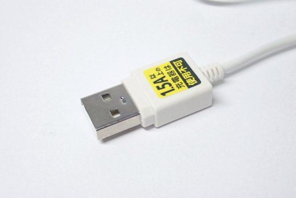 百均浪漫◆E Core iPhone対応USB充電専用ケーブル。詳細写真。