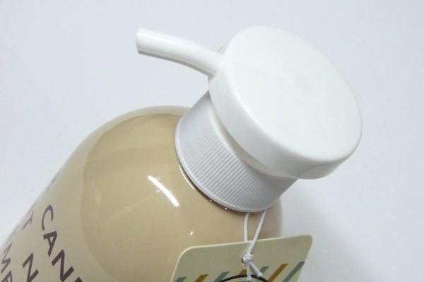 液体ボディソープやシャンプーなどを小分けして使うときに便利なポンプボトル 300ml @100均 セリア