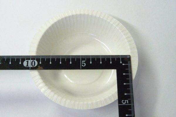百均浪漫◆iまるきPP加工のペーパーボウル10cm 6枚。内径測定。