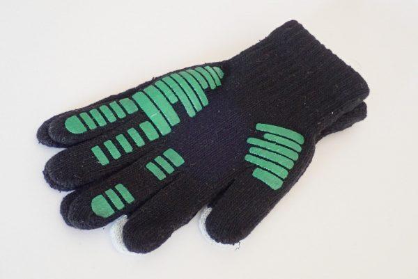 百均浪漫◆すべり止め付きスマホ操作可能な手袋。手袋全体写真。