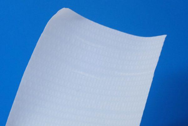 百均浪漫◆CS養生テープ(白) 48mm × 8m。養生テープ部分拡大。
