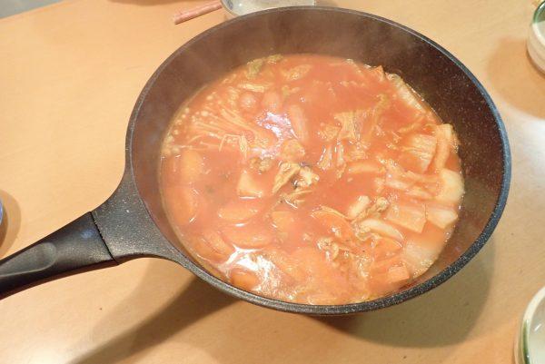 百均浪漫◆デルモンテ完熟あらごしトマト388g。ブイヤベース風鍋。