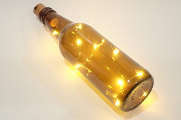 百均浪漫◆丸七 IN-07 LEDジュエリーライト コルク栓型。ビンに入れて点灯。