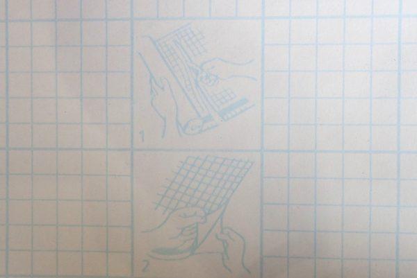 百均浪漫◆丸七リメイクシート オールドウッドC。剥離紙、貼り方説明。