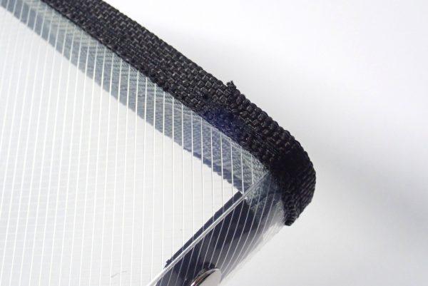 百均浪漫◆和泉化成 A6ファスナーケース。縫製部分詳細写真。